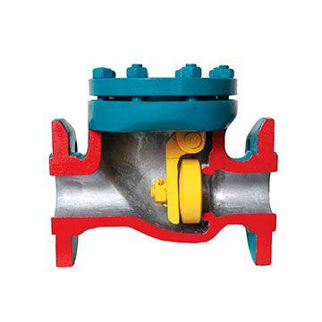 Клапан обратный поворотный стальной